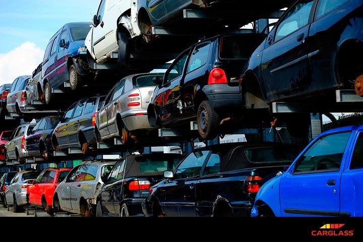 partes del coche recicladas
