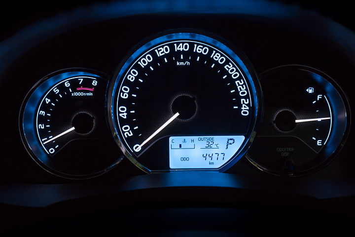 velocidad a 90 km por hora
